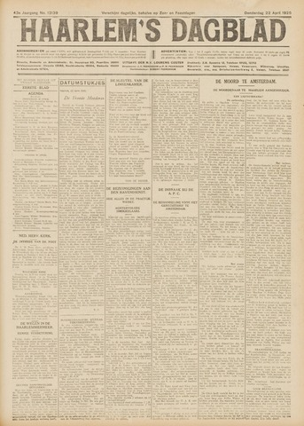 Haarlem's Dagblad 1926-04-22