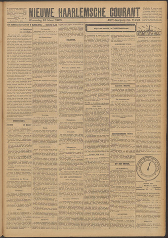 Nieuwe Haarlemsche Courant 1923-03-28
