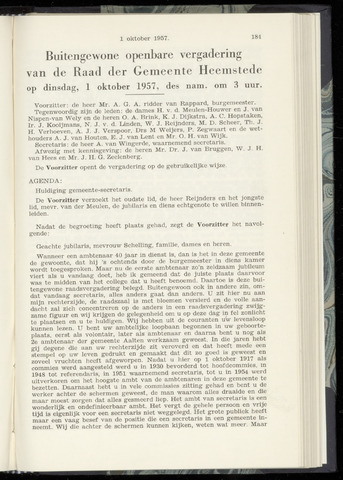 Raadsnotulen Heemstede 1957-10-01