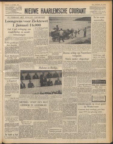 Nieuwe Haarlemsche Courant 1954-10-08