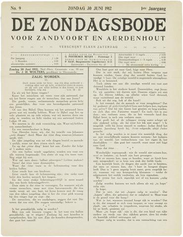 De Zondagsbode voor Zandvoort en Aerdenhout 1912-06-30
