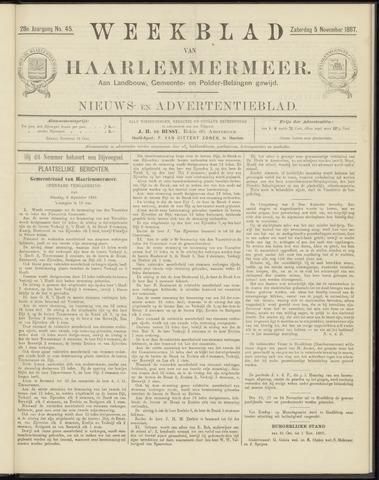 Weekblad van Haarlemmermeer 1887-11-05