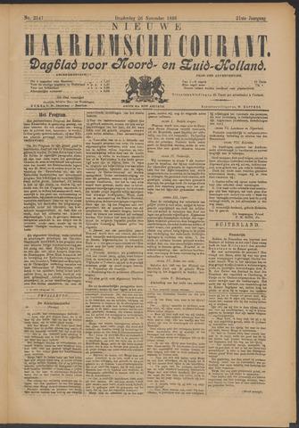 Nieuwe Haarlemsche Courant 1896-11-26