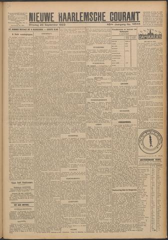 Nieuwe Haarlemsche Courant 1923-09-25