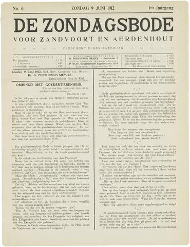 De Zondagsbode voor Zandvoort en Aerdenhout 1912-06-09