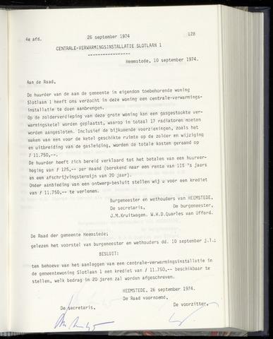 Raadsnotulen Heemstede 1974-09-26