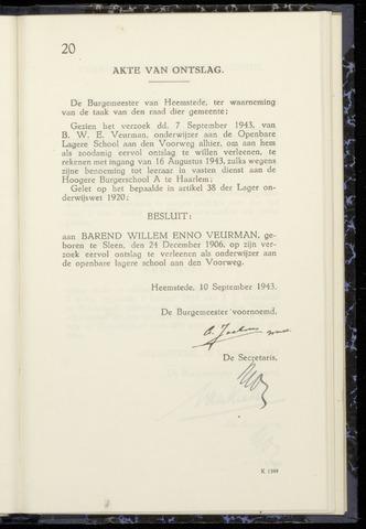 Raadsnotulen Heemstede 1943-09-10
