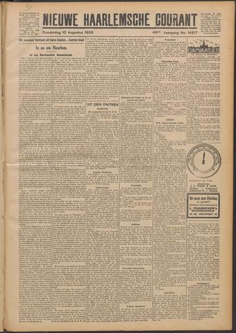 Nieuwe Haarlemsche Courant 1922-08-10