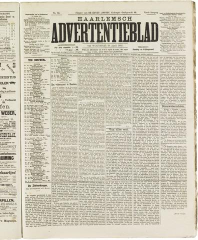 Haarlemsch Advertentieblad 1882-04-26