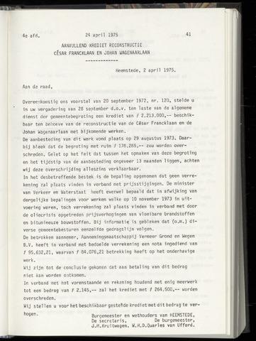 Raadsnotulen Heemstede 1975-04-24