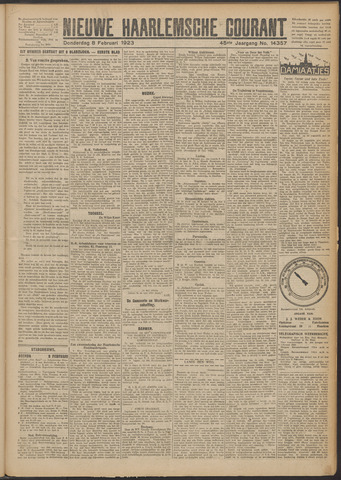 Nieuwe Haarlemsche Courant 1923-02-08
