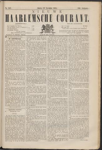 Nieuwe Haarlemsche Courant 1885-11-29