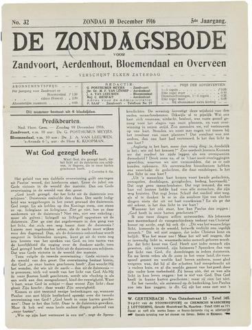 De Zondagsbode voor Zandvoort en Aerdenhout 1916-12-10