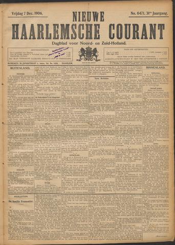 Nieuwe Haarlemsche Courant 1906-12-07