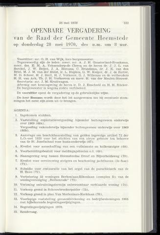 Raadsnotulen Heemstede 1970-05-28
