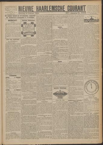 Nieuwe Haarlemsche Courant 1923-02-10
