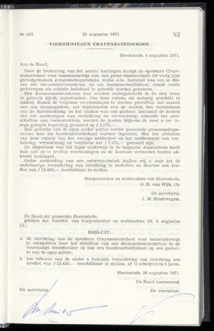 Raadsnotulen Heemstede 1971-08-26