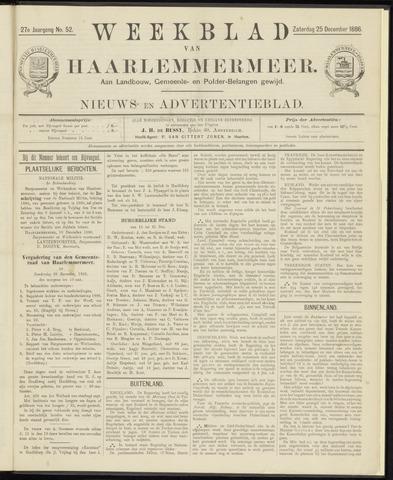 Weekblad van Haarlemmermeer 1886-12-25