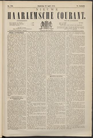 Nieuwe Haarlemsche Courant 1884-04-10