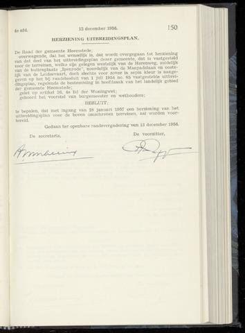 Raadsnotulen Heemstede 1956-12-13