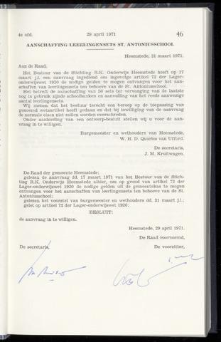 Raadsnotulen Heemstede 1971-04-29