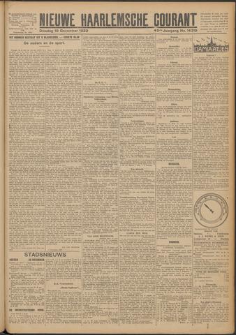 Nieuwe Haarlemsche Courant 1922-12-19