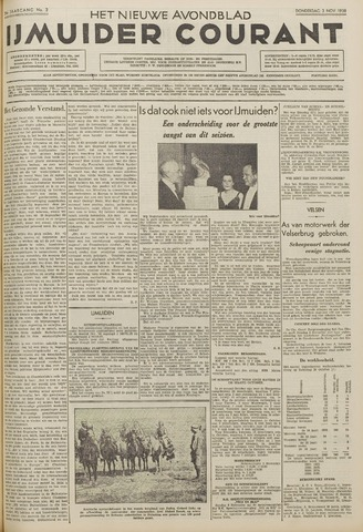 IJmuider Courant 1938-11-03