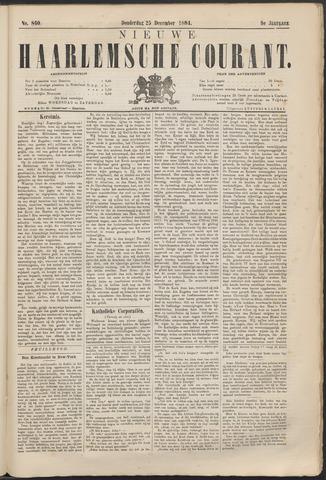 Nieuwe Haarlemsche Courant 1884-12-25