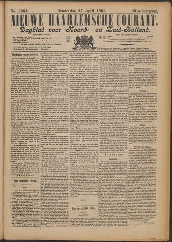 Nieuwe Haarlemsche Courant 1905-04-27