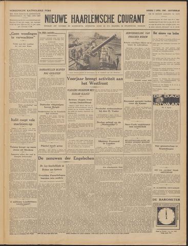 Nieuwe Haarlemsche Courant 1940-04-02