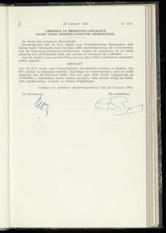 Raadsnotulen Heemstede 1953-01-29