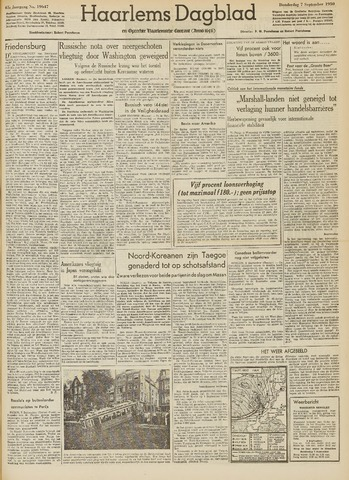 Haarlem's Dagblad 1950-09-07
