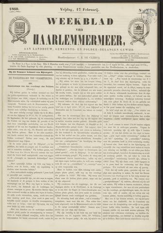 Weekblad van Haarlemmermeer 1860-02-17