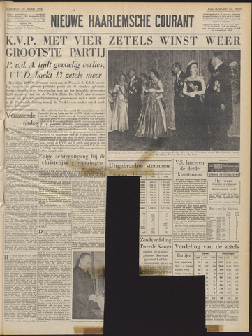 Nieuwe Haarlemsche Courant 1958-03-27