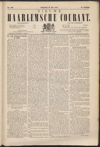 Nieuwe Haarlemsche Courant 1884-05-29