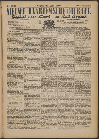Nieuwe Haarlemsche Courant 1905-04-28