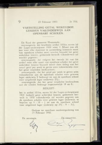 Raadsnotulen Heemstede 1950-02-23