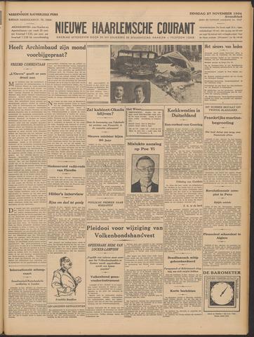 Nieuwe Haarlemsche Courant 1934-11-27