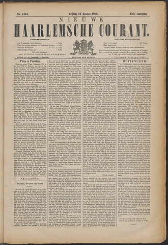 Nieuwe Haarlemsche Courant 1888-10-26
