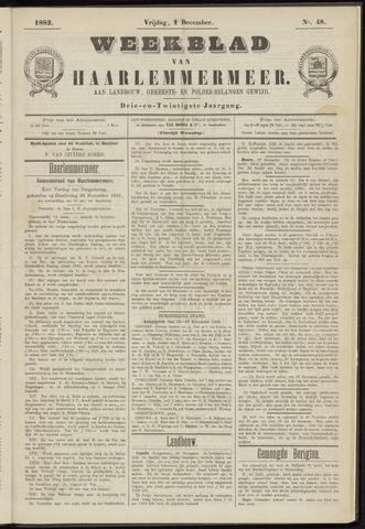 Weekblad van Haarlemmermeer 1882-12-01