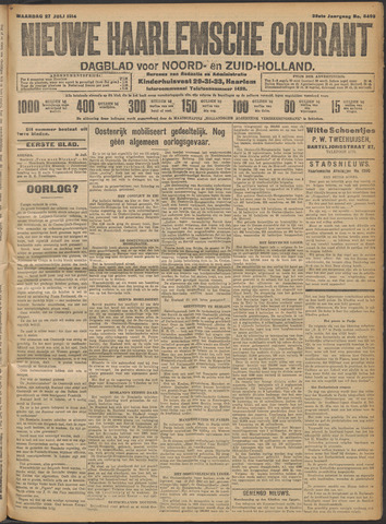 Nieuwe Haarlemsche Courant 1914-07-27