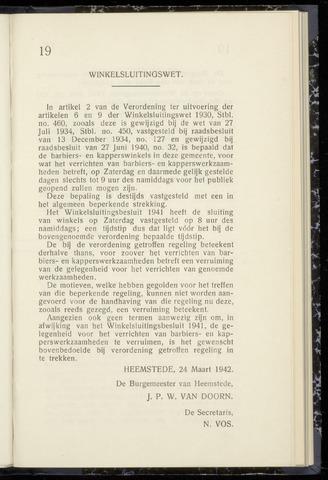 Raadsnotulen Heemstede 1942-03-24