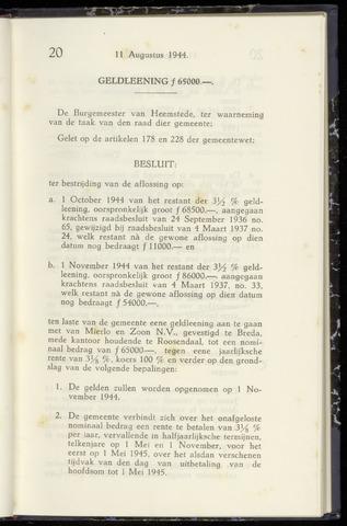 Raadsnotulen Heemstede 1944-08-11