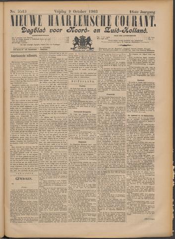 Nieuwe Haarlemsche Courant 1903-10-09