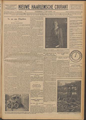 Nieuwe Haarlemsche Courant 1928-09-27
