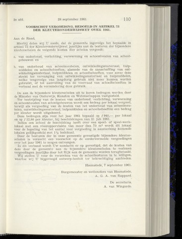 Raadsnotulen Heemstede 1961-09-28