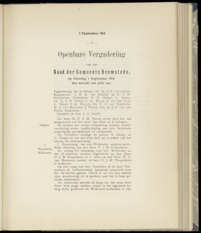 Raadsnotulen Heemstede 1914-09-01