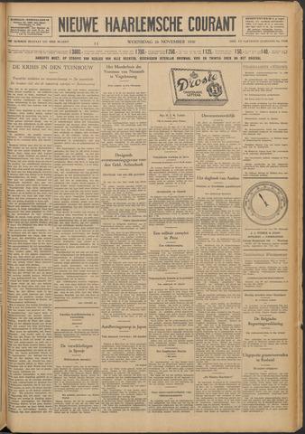 Nieuwe Haarlemsche Courant 1930-11-26