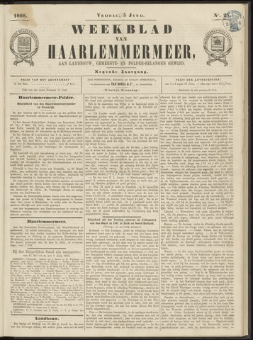 Weekblad van Haarlemmermeer 1868-06-05