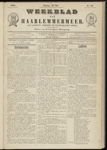 Weekblad van Haarlemmermeer 1881-05-27